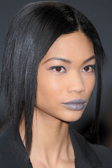 Chanel Iman in Blue Lips